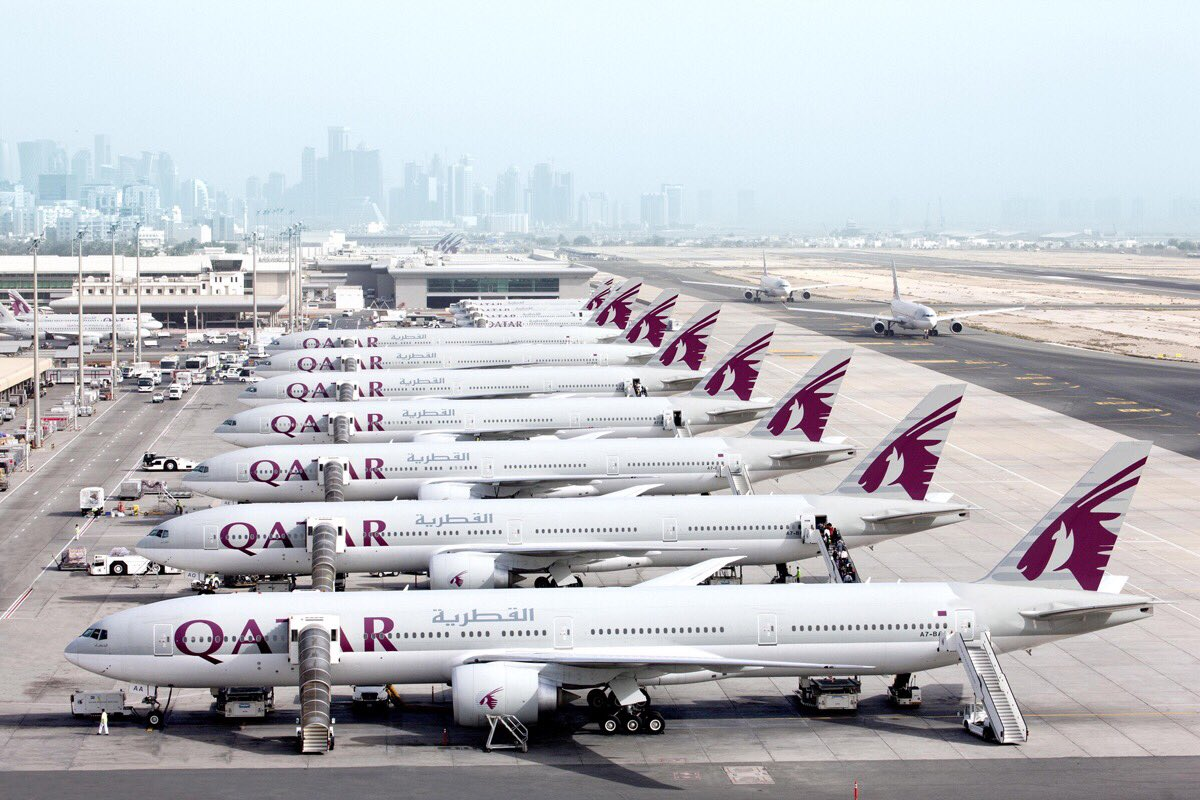 Qatar Airways runway